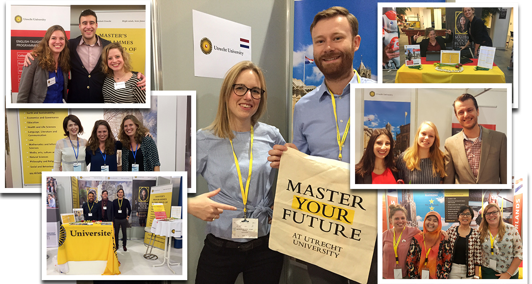 Our staff at fairs in different countries