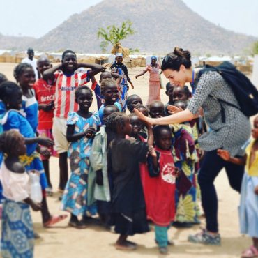 Lotte Claessens YES alumna at work in Cameroon at a Refugee camp