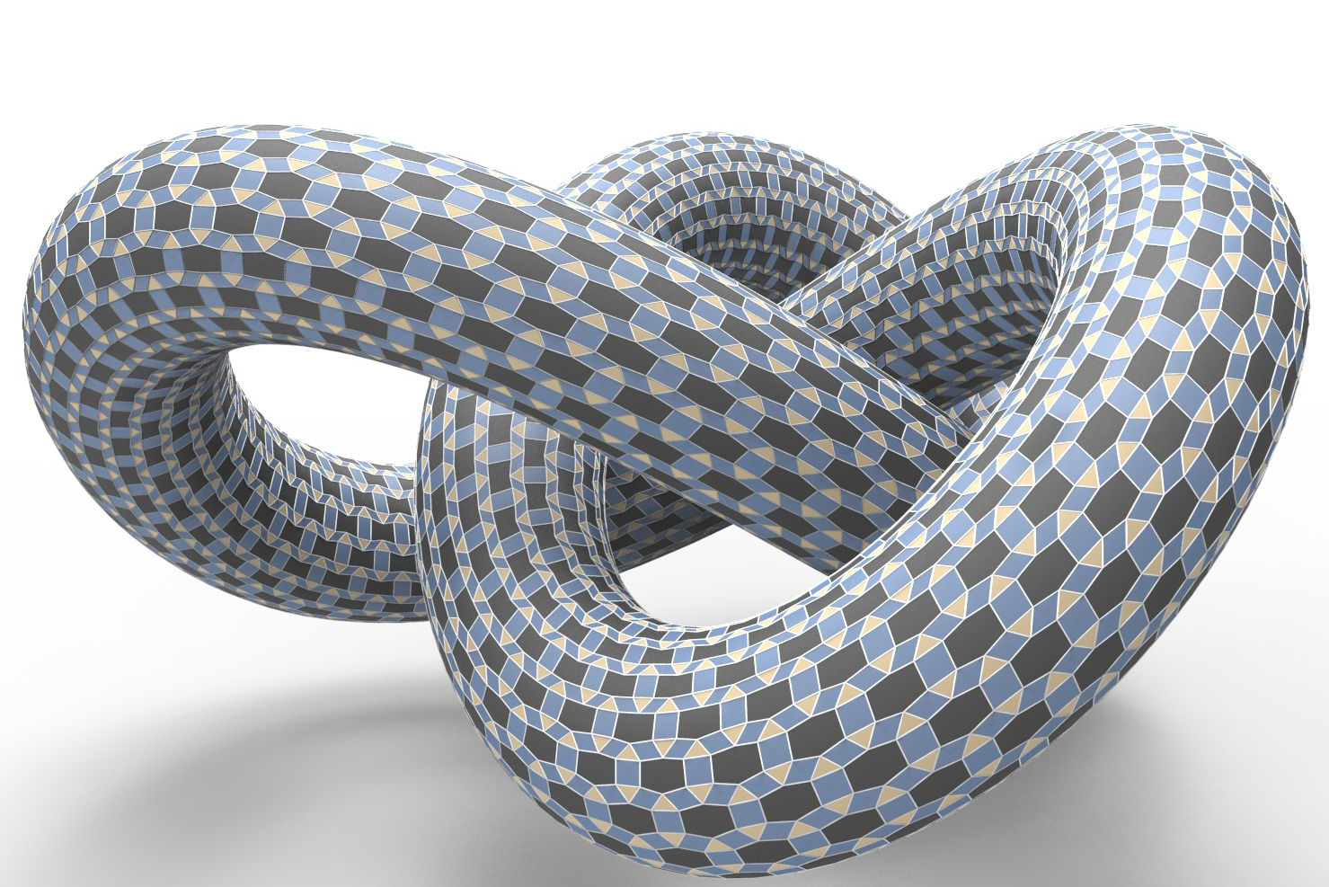 Polyhedral patterns on a knot