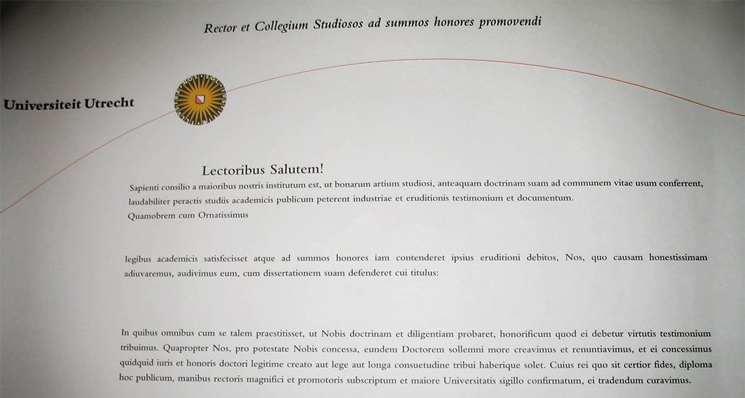 getuigschrift PhD