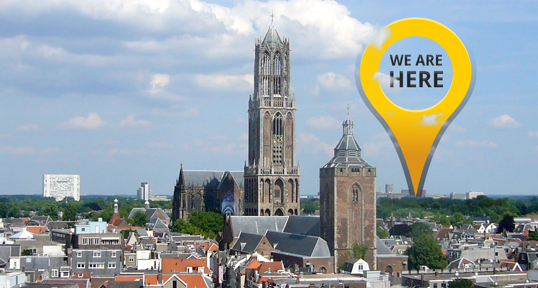 Overview image of Utrecht highlighting the Uithof