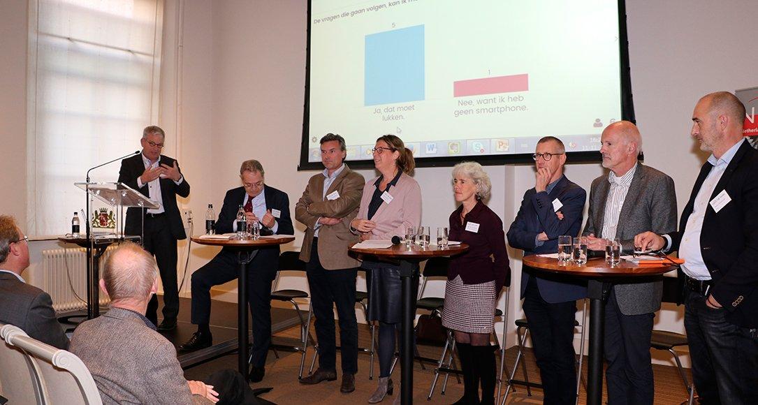 Tijdens slotconferentie Begrijpelijke taal en effectieve communicatie. Foto: Jenny van Bremen-Boom (NWO)