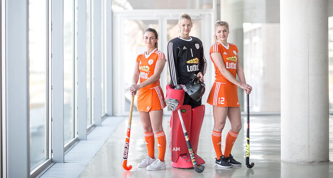 The winning Utrecht University students of the European Championship Indoor Hockey 2016.