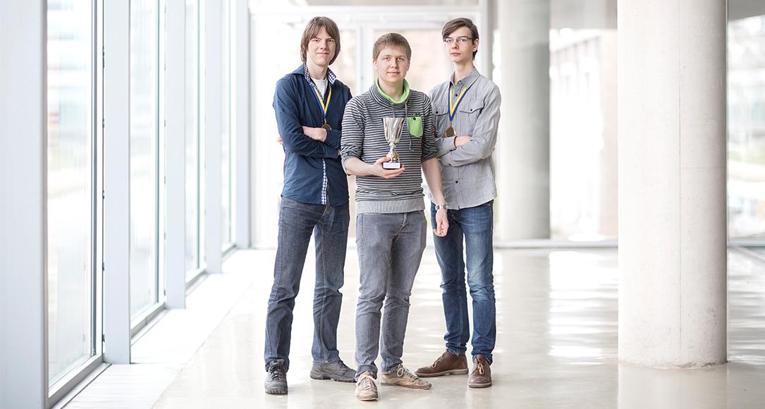 Utrechtse deelnemers aan het WK Programmeren.