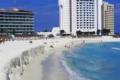 Erosie van het strand bij Cancun