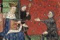Karel V benoemt Bertrand du Guesclin tot connétable. Rouen, Bibliothèque municipale ms. 1143, f. 4v.