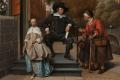 Detail uit Adolf en Catharina Croeser, bekend als 'De burgemeester van Delft en zijn dochter', Jan Havicksz. Steen, 1655. Bron: Rijksmuseum Amsterdam