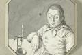 Man, die leest bij kaarslicht, Ernst Willem Jan Bagelaar, 1800. Bron: rijksmuseum.nl