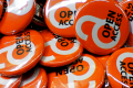 Oranje Buttons met Open Access Logo