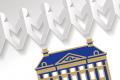 KNAW logo met papieren poppetiesketting
