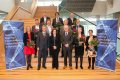 Minister Van Engelshoven en de tien hoofdaanvragers van de gehonoreerde Roadmap-projecten