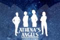 Het logo van Athena's Angels - 4 women in academia.