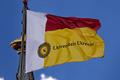 Universiteitsvlaggen bovenop de Domtoren.