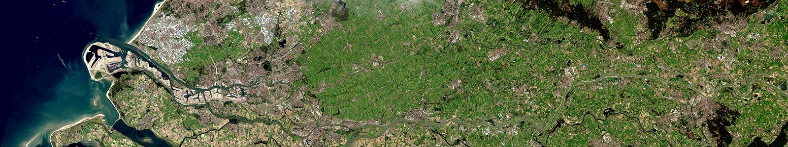 Rhine-Meuse delta (USGS/NASA Landsat)