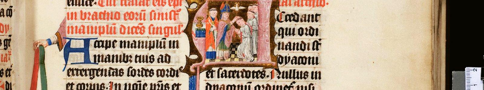 Het Pontificale van Sinte Marie uit de bijzondere collecties van de Universiteitsbibliotheek Utrecht