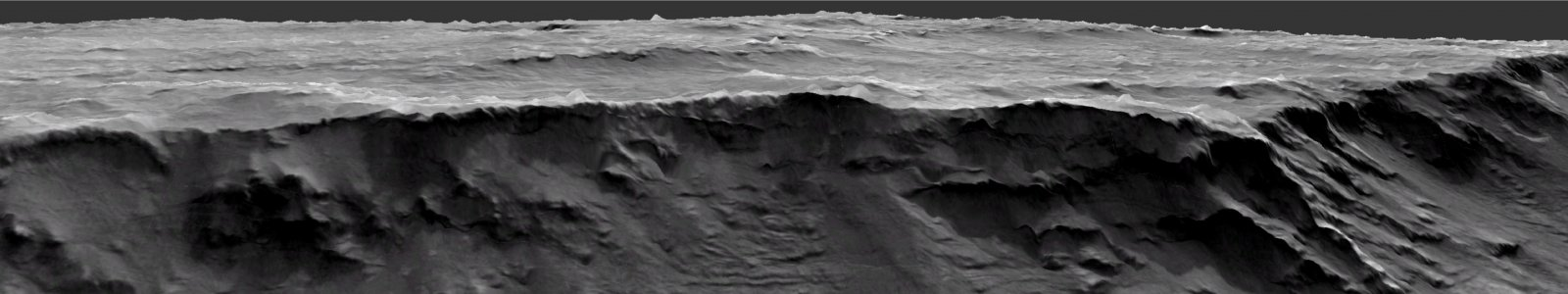 Vertical section at Izola Mensa in the northwestern rim of the Hellas Basin on Mars