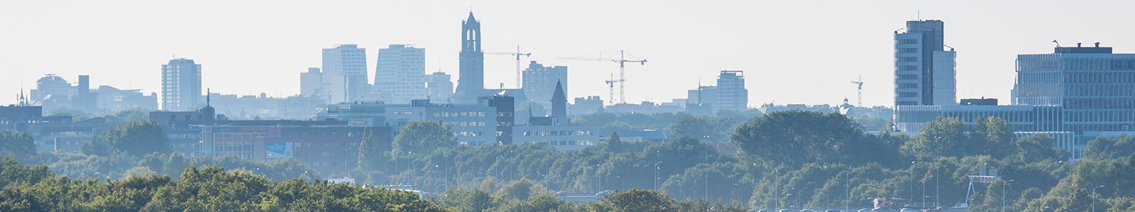 De skyline van Utrecht.