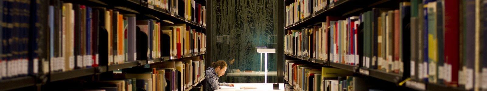 doorkijkje naar student bibliotheek