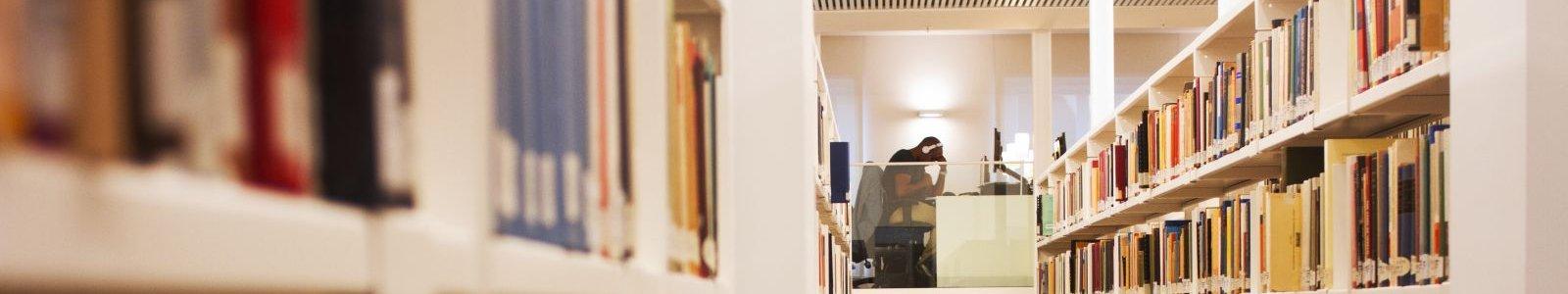 boekenkasten en studieplekken in de UB Binnenstad