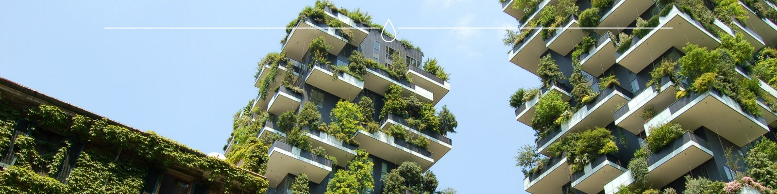 Groen op hoge gebouwen