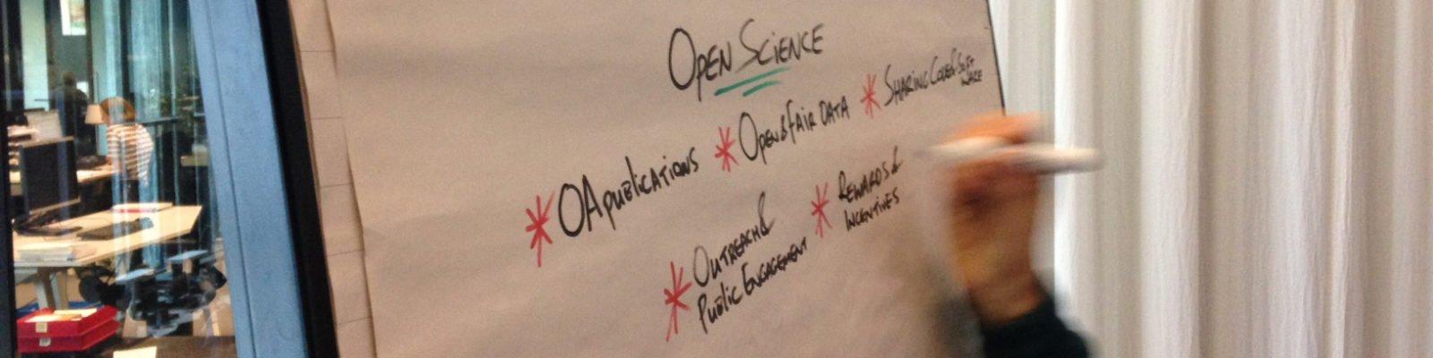 Flipover met tekst over open science