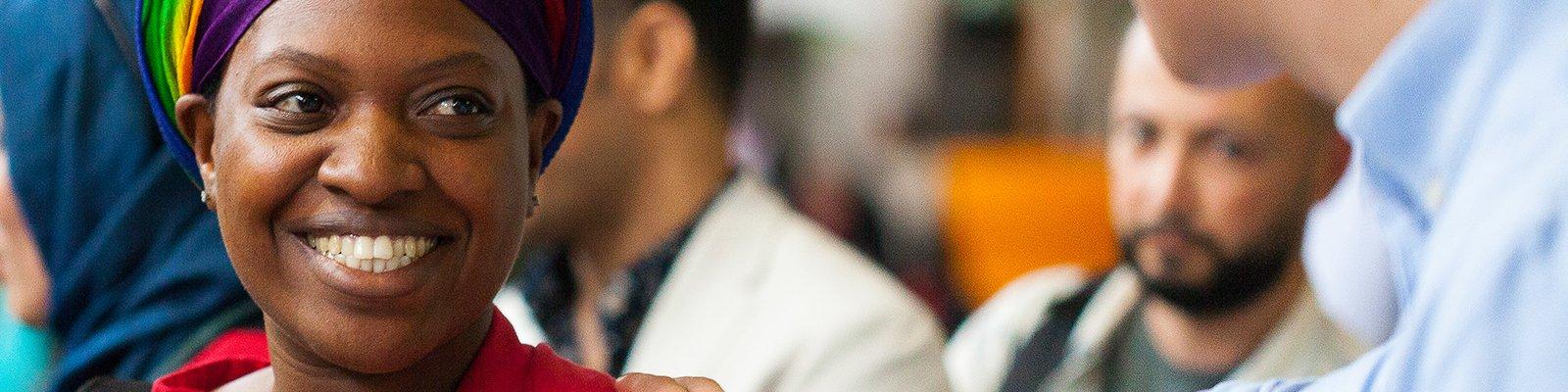 Deelnemer aan het onderwijsprogramma voor vluchtelingen InclUUsion.