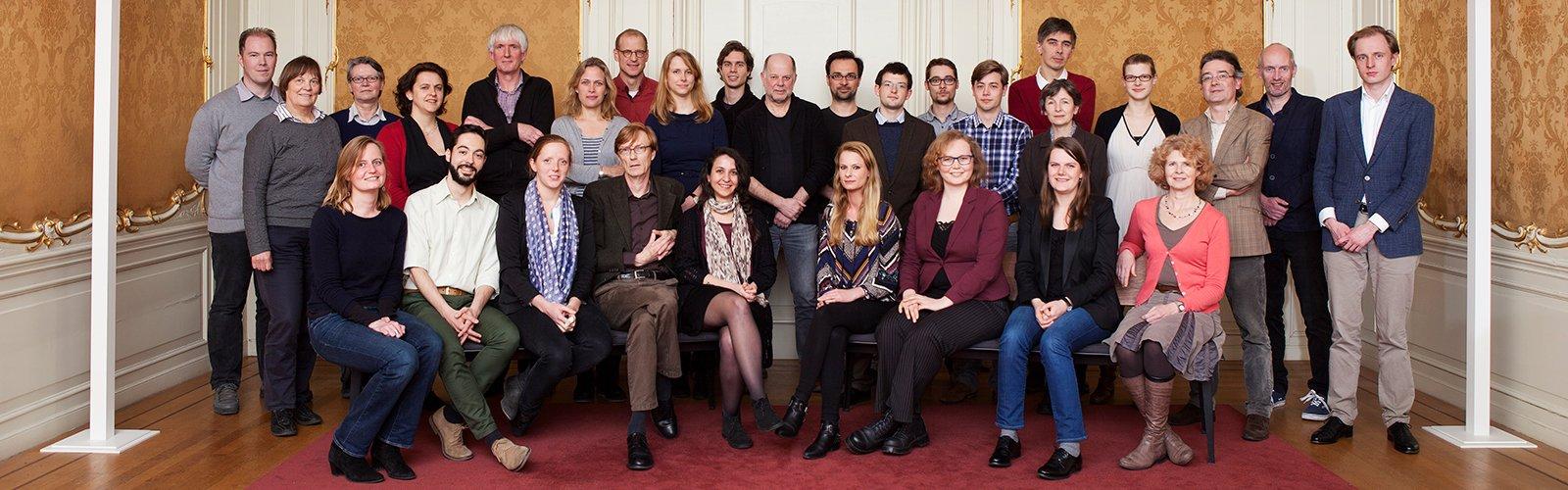 Groepsportret van Economische en Sociale Geschiedenis. Foto: Marijn Smulders