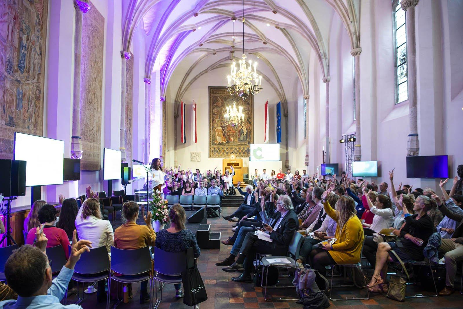 Volle aula in het Academiegebouw tijdens het Social Entrepreneurship Festival 2018