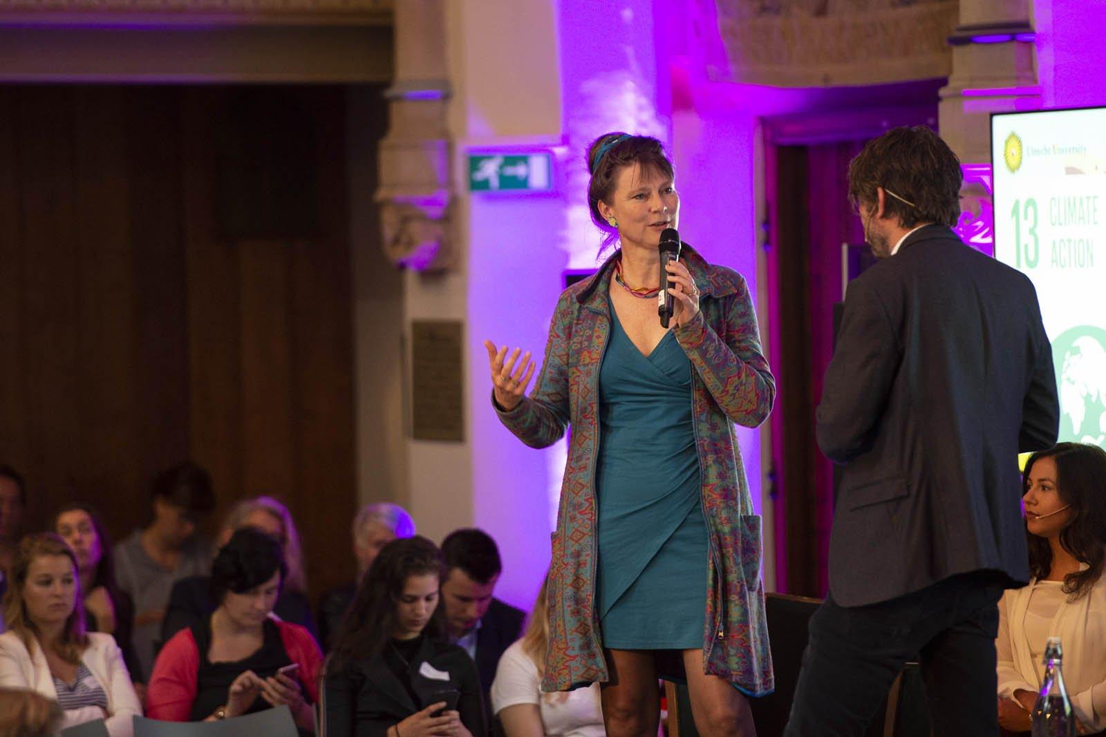 Marjan Minnesma, milieu-activiste en directeur van Stichting Urgenda spreekt tijdens het Social Entrepreneurship Festival 2018