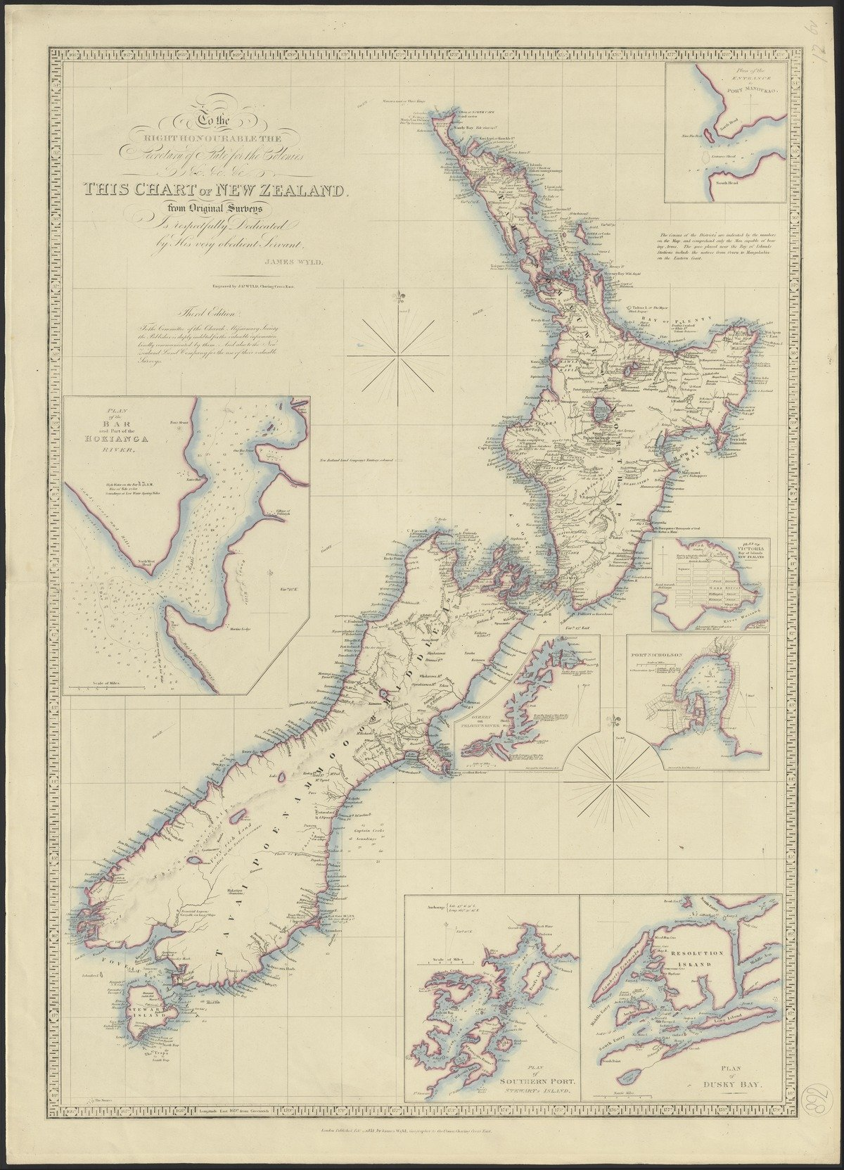 'Chart of New Zealand from original surveys', 1851