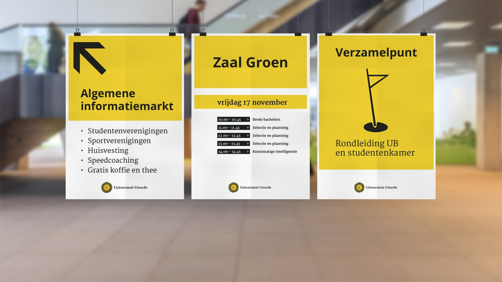 Bachelor communicatie bewegwijzeringposters
