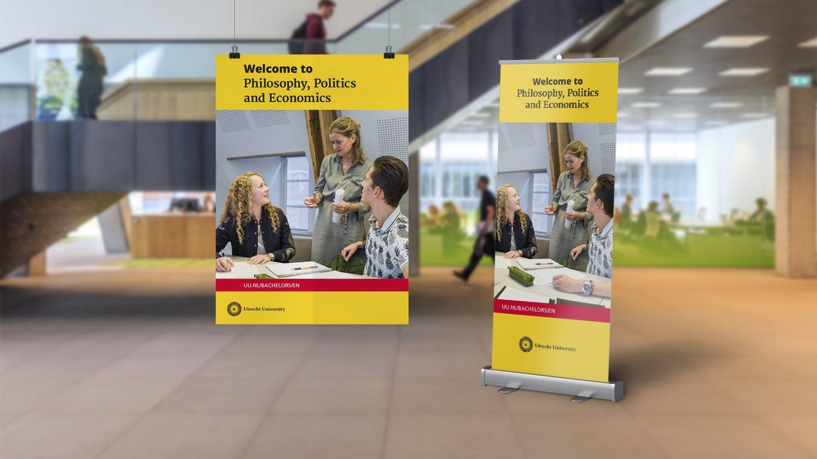 Bachelor communicatie opleidingsbanier en poster