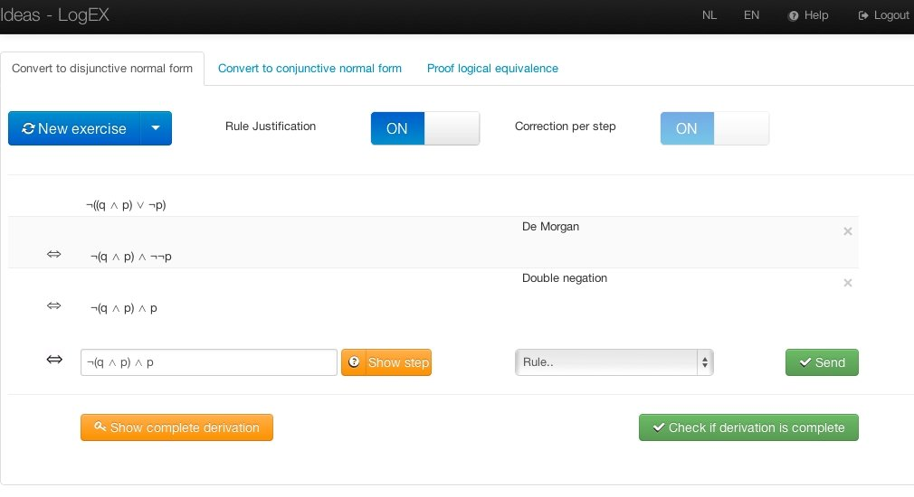 screenshot of Ideas - LogEX.