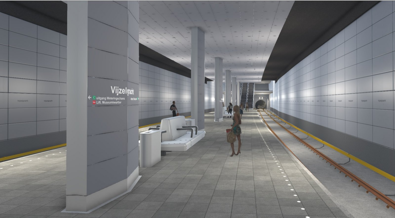 Simulation in a metro station