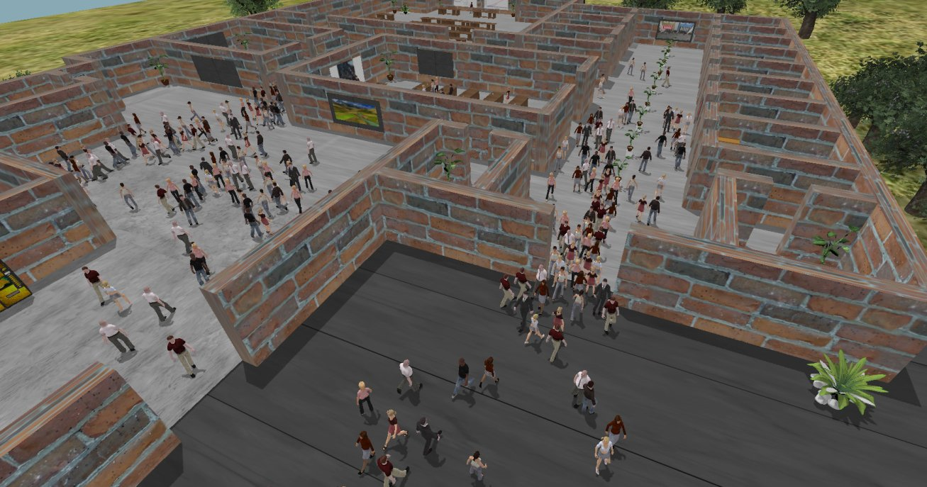 crowd simulation in a virtual environment