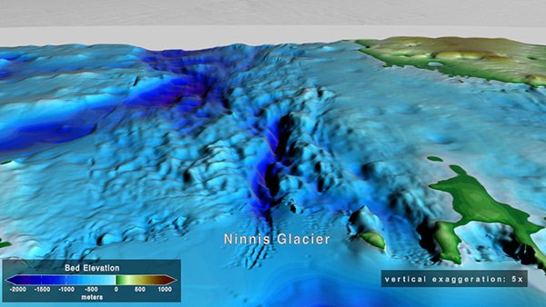 BedMachine: A high-precision map of Antarctic ice sheet bed topography