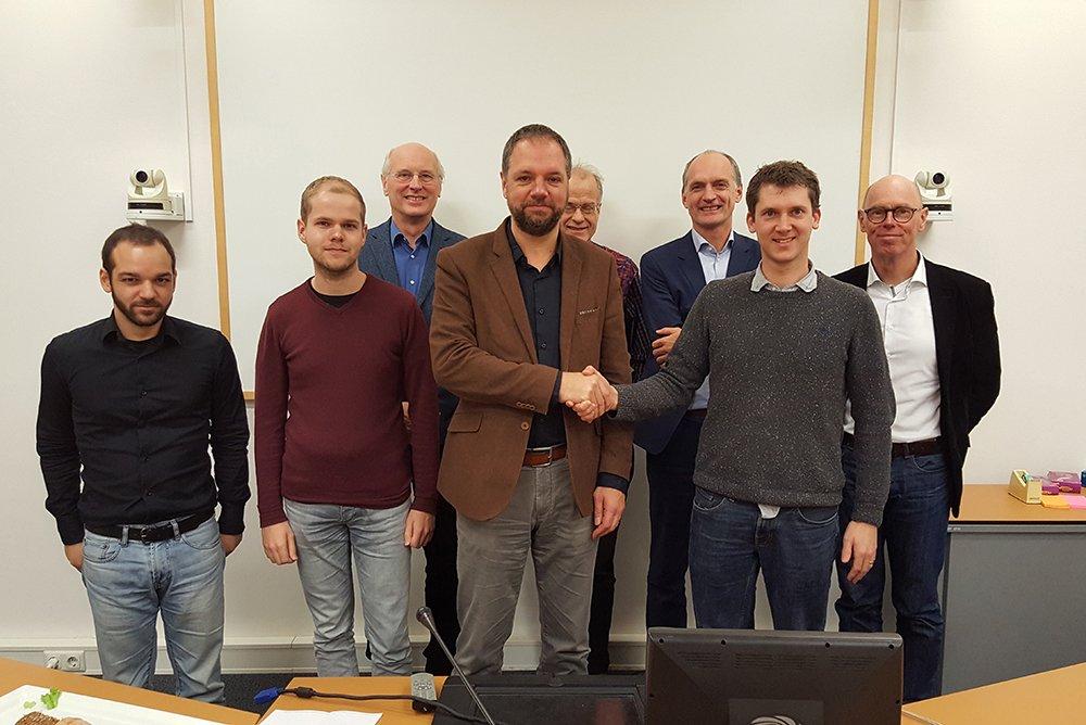 Ondertekening crowdsimulatie Universiteit Utrecht en Movares