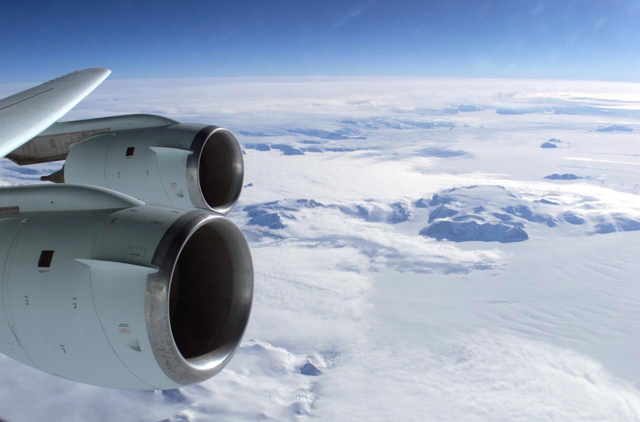 Antarctica vanuit de lucht