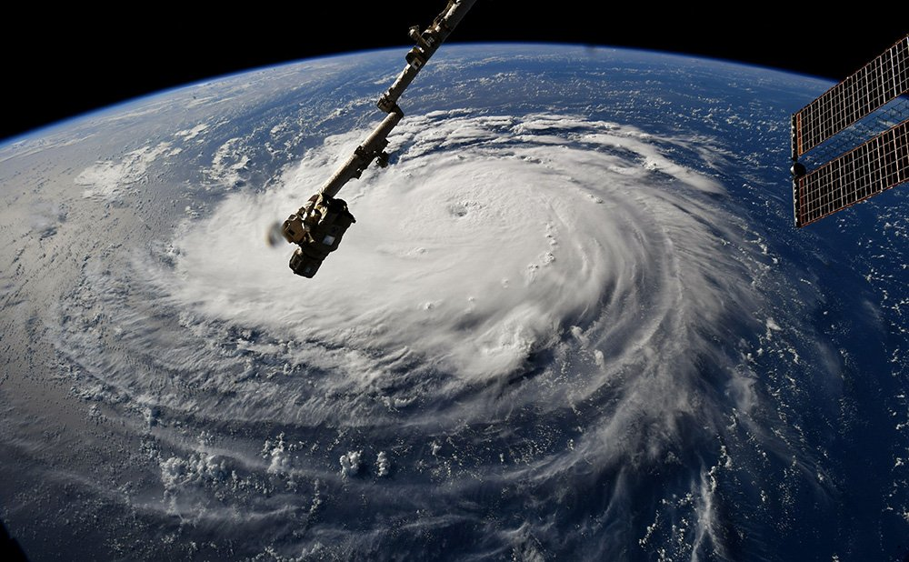 Hurrican Florence. Credits NASA