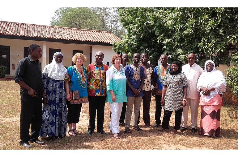 The Madina team in Ghana, 2018
