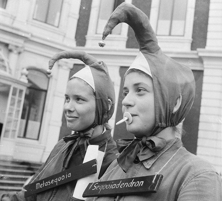 Ontgroening van meisjes in Den Haag (1961). Bron: Wikimedia: Anefo/Jack de Nijs