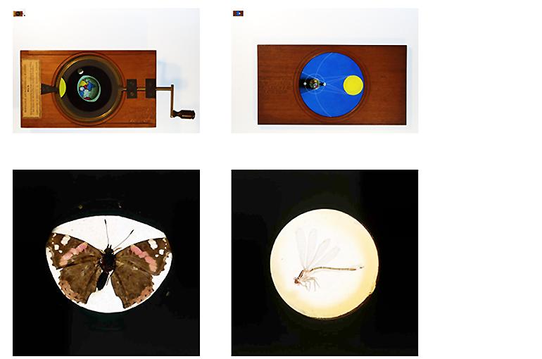 Projecties magische lantaarn: doorzichtige afbeeldingen op glasplaten