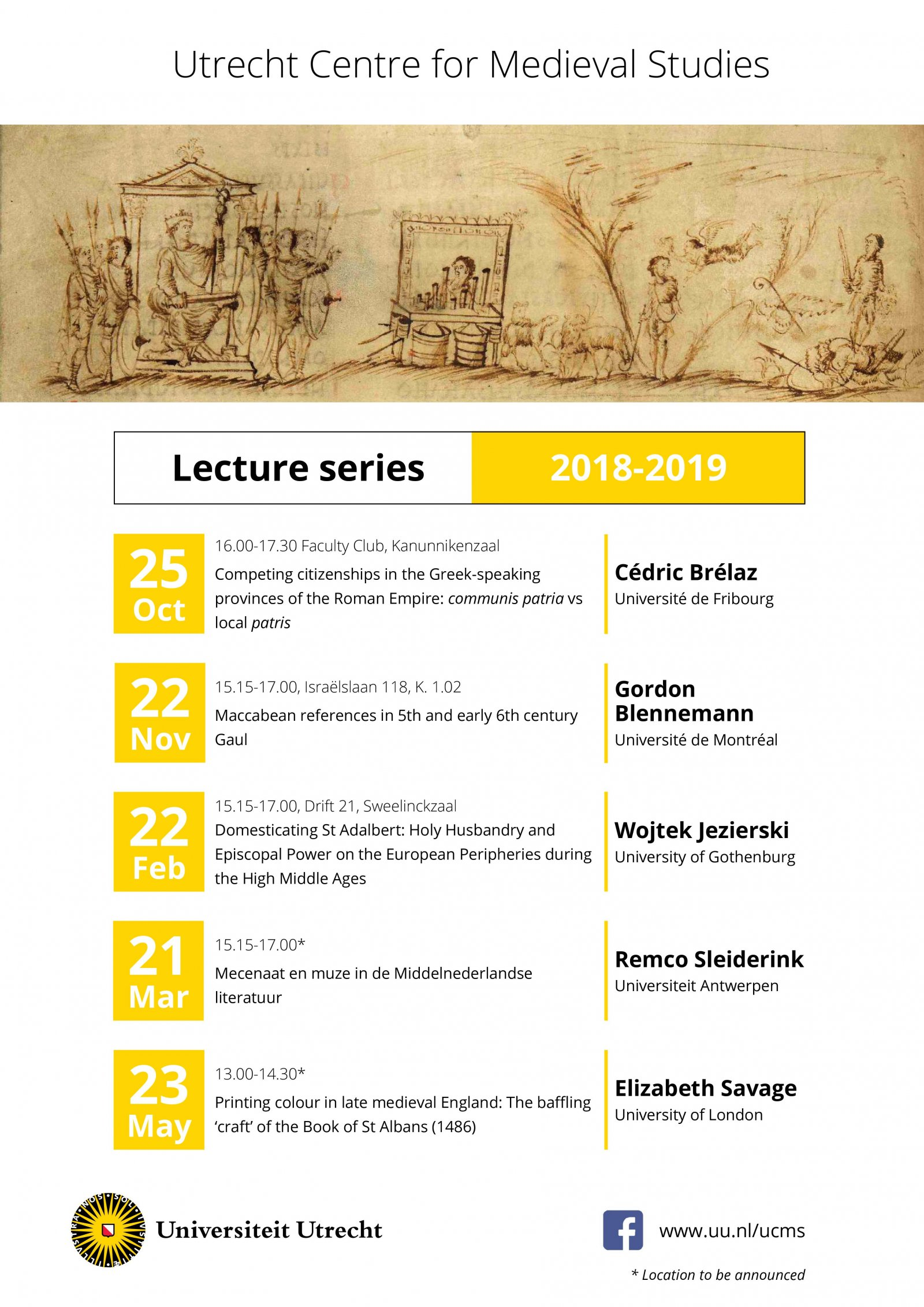 UCMS lecture series 2018-2019