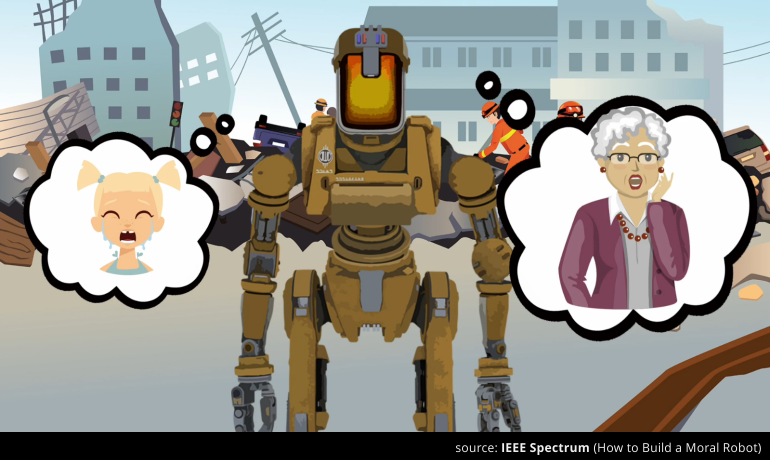 Screenshot from 'How to Build a Moral Robot', IEEE Spectrum