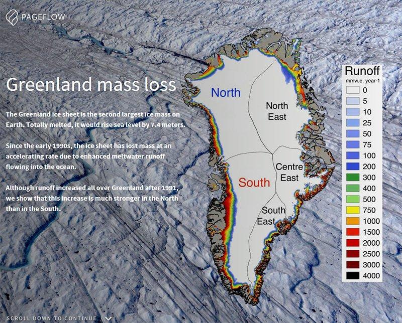 Greenland mass loss (Pageflow screenshot)