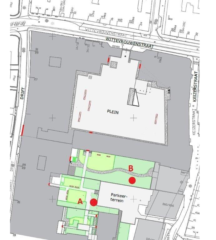 Plattegrond Universiteitsbibliotheek Binnenstad rookvrij