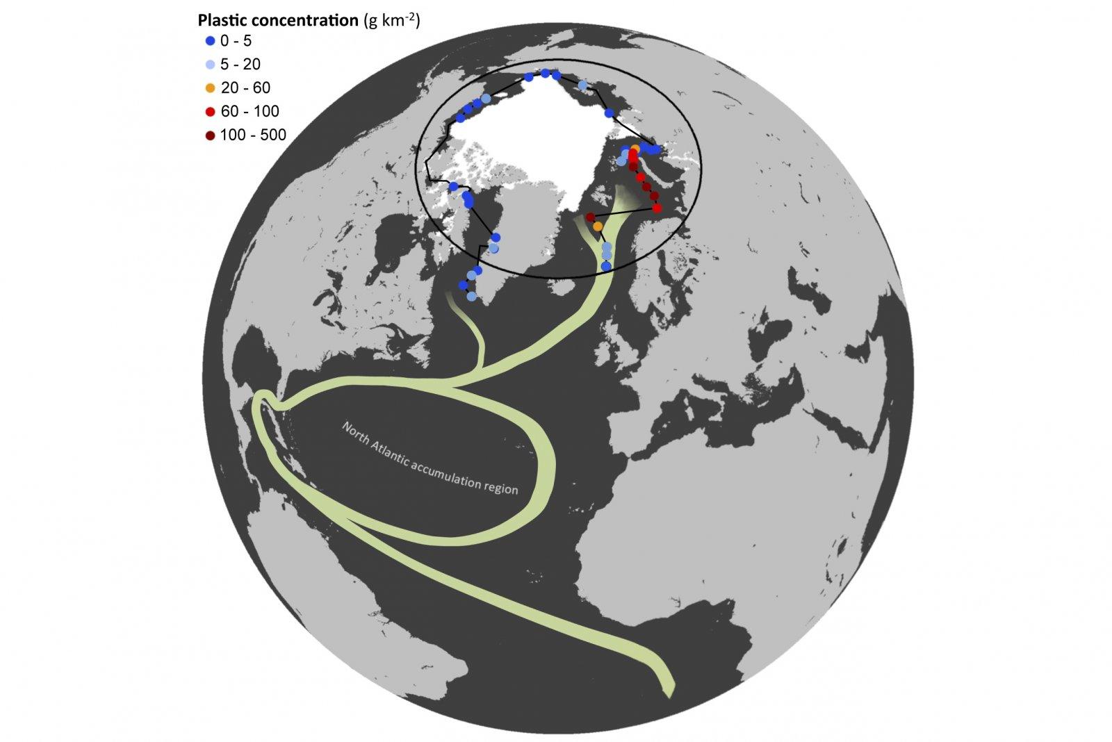Plastic concentration - fig 1d Cózar et al., Science Advances