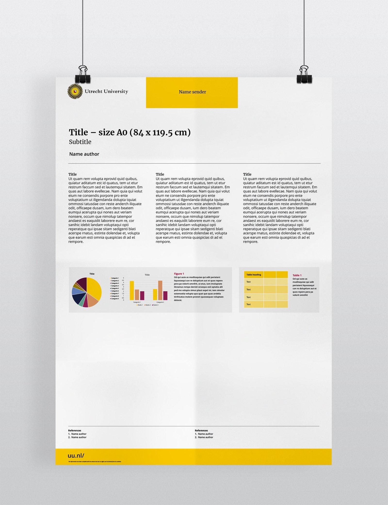 Wetenschappelijke presentatieposter