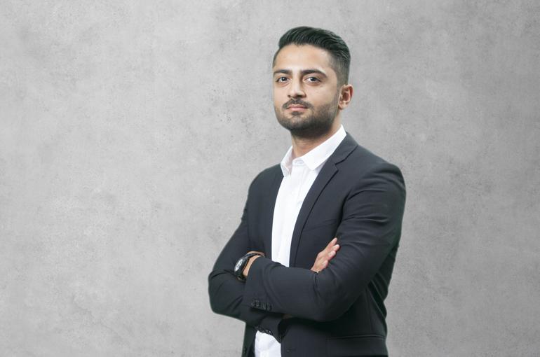Student Amir-Hossein Sadeghi.