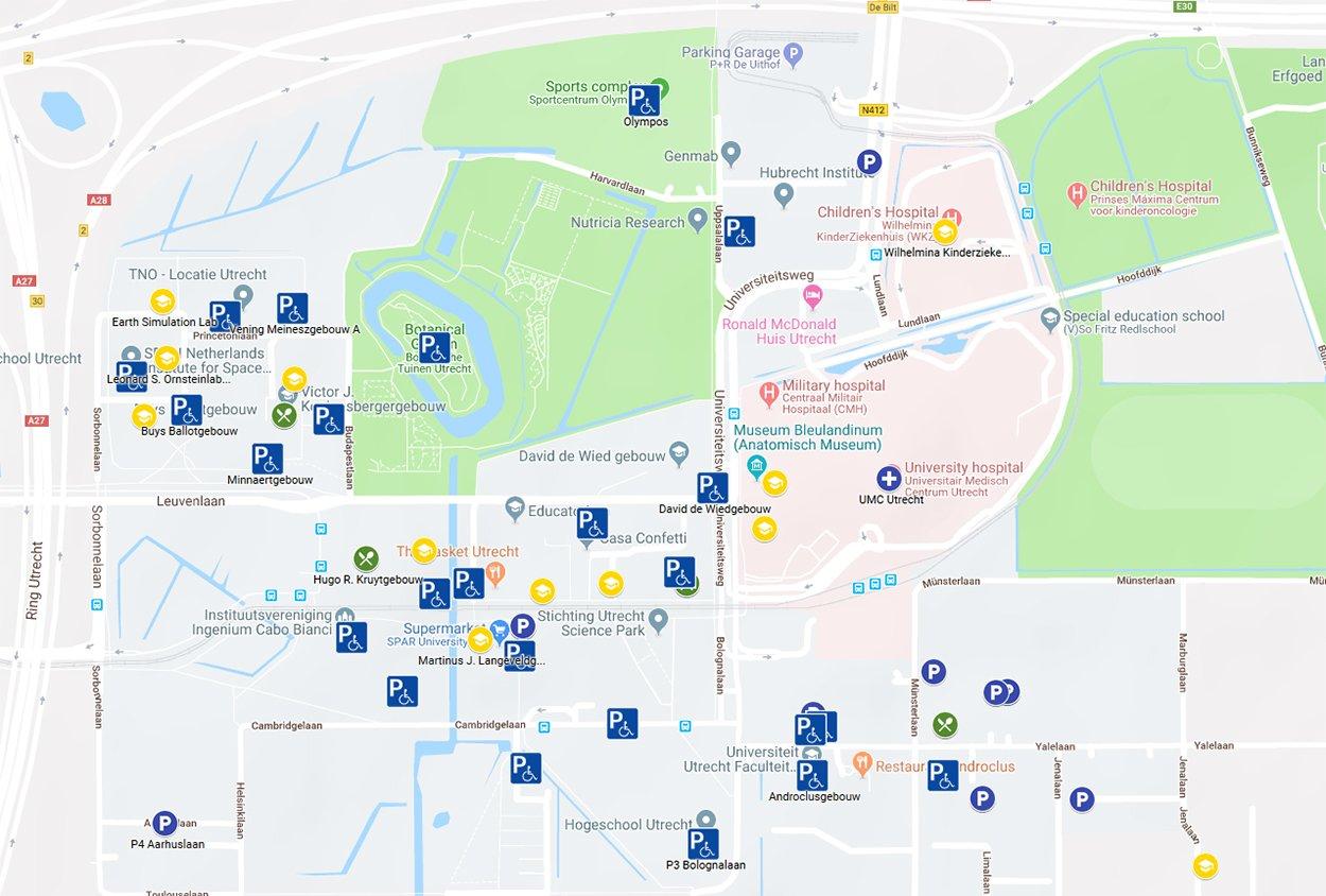 Plattegrond Utrecht Science Park